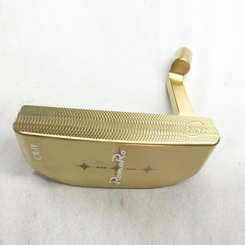 Cooyute New Golf heads RomaRo CR-IV limited edition Golf putter head Gold color Golf clubs head no shaft Free shipping new men golf clubs cooyute gp platinum t golf putter 34 inch clubs putter dynamic gold r300 steel golf shaft free shipping