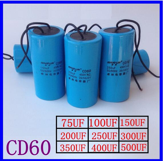 Free shipping/AC Motor Capacitor Start Capacitor CD60 450VAC 400uF/Washer start capacitor genuine leadshine acs606 dc input brushless servo drive with 18 to 60 vdc input voltage and 6a continuous 18a current