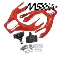 Adjustable (L&R) Front Upper Control Arm Camber Kit For HONDA CIVIC EG 92 95 RED FRONT UPPER CAMBER ARM KIT