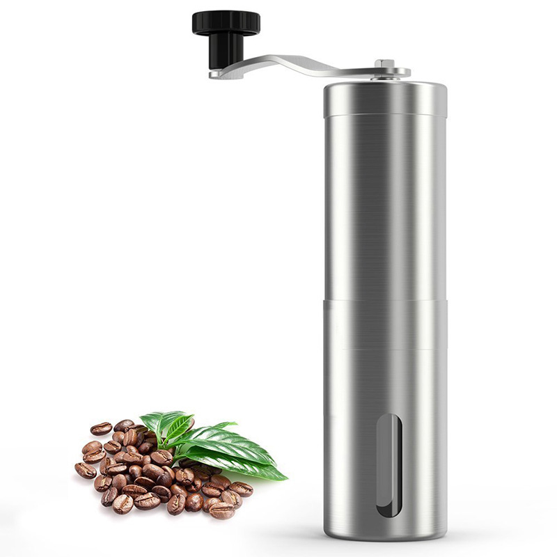 Manual Coffee Grinder Portable Handheld Stainless Steel Coffee Grinder with Ceramic Conical Burr Mill Coffee Machine portable coffee grinder stainless steel ceramic burr hand crank manual coffee grinder for coffee lovers mini hand mill for home