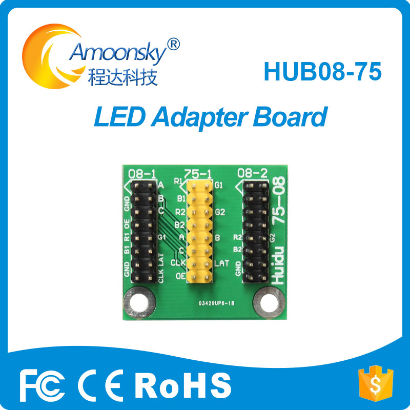 Led Display Hub08 75 Pinboard Control Card Conventor Convert Port To Hub75 For Full Color Screen