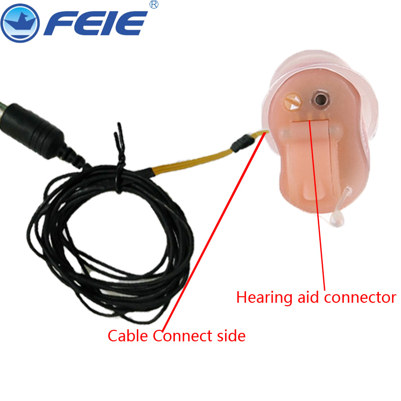Hearing Aid Cable Hearing Aids Accessories Programmable Wire Three Types for Digital RIC, CIC, BTE Cable Line medical hearing aids stethoscope with couple testing bte ite itc cic hearing aids