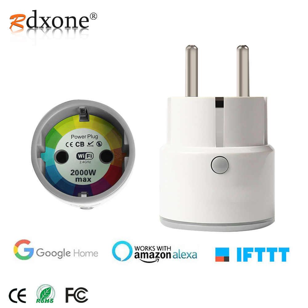 Rdxone Wifi الذكية الاتحاد الأوروبي المقبس 16A/10A مقبس واي فاي الشبكات الكهربائية توقيت التحكم عن بعد العمل مع الأمازون اليكسا/جوجل