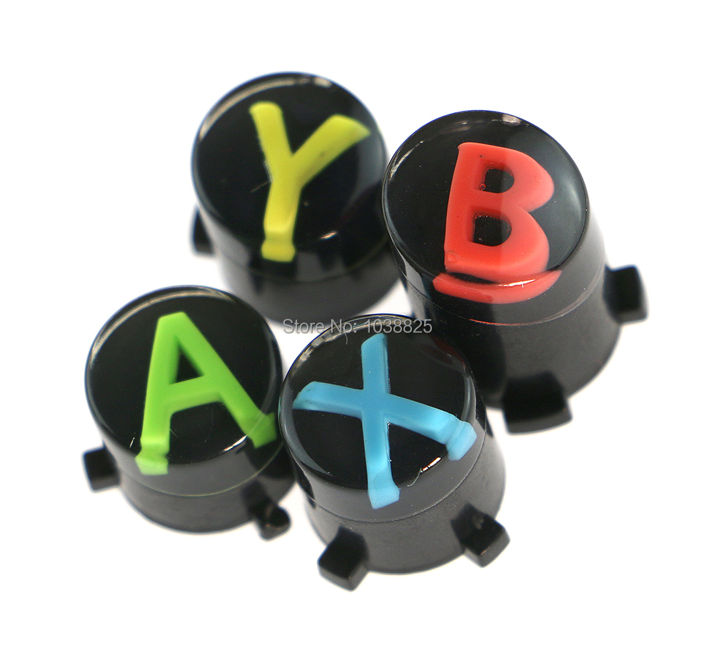 2sets/lot Replacement ABXY Black Buttons Set Custom Mod For Xbox One Controller