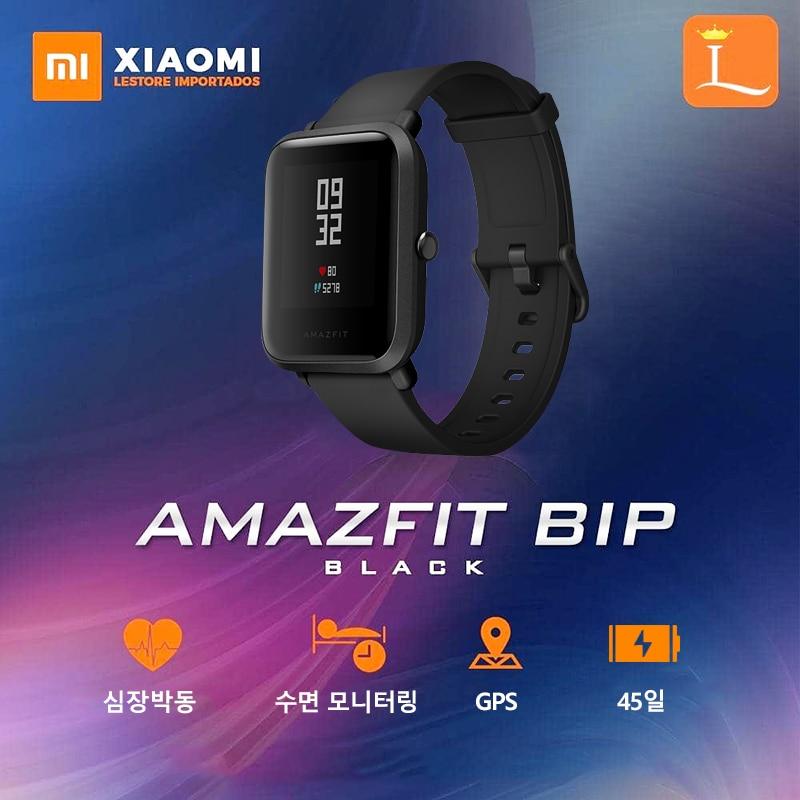 Slimme horloge Xiaomi Huami Amazfit Bip Smartwatch hartslagmonitoren 45 dagen Levensduur batterij en gps Gloness voor Android IOS-systeem