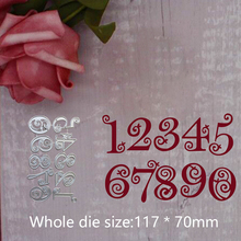 117*70mm Circle Lace Numbers new metal cutting Dies for decoration DIY Scrapbooking stencil Embossing template Paper Cards