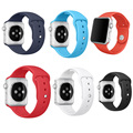 Para adaptador de apple watch band 42mm correa de silicona deporte pulsera para iwatch correa de banda de la serie 2 y serie 1
