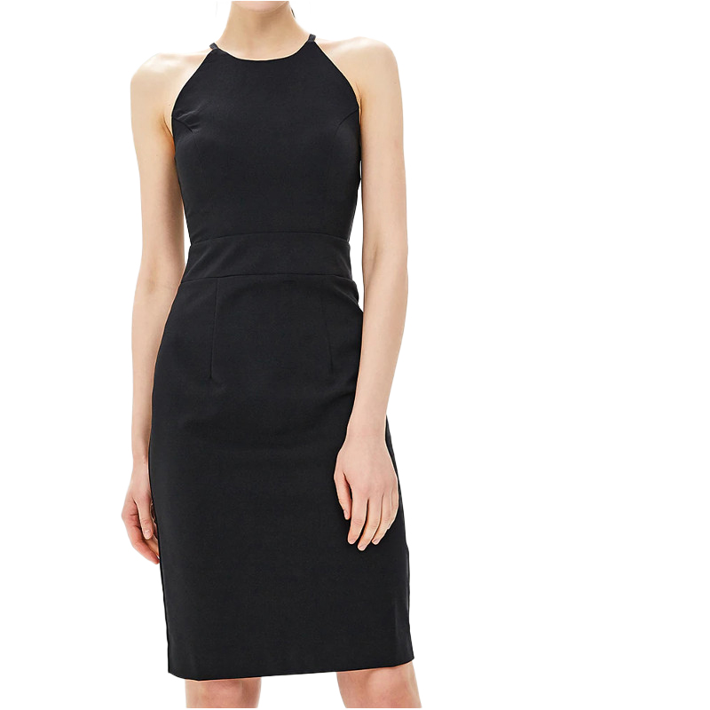 Dresses MODIS M181W00733 women dress cotton  clothes apparel casual for female TmallFS alluring scoop neck ruched asymmetrical backless women s dress