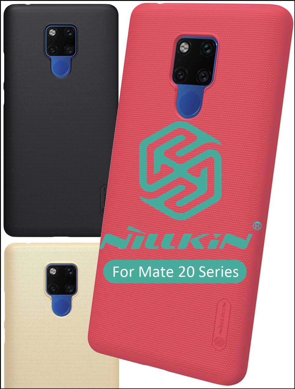 Funda Nillkin Frosted para Huawei Mate 20 Pro Lite X funda trasera de plástico duro + soporte de regalo