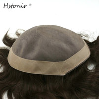 Afra Hair Replacement Systems French Lace And Pu Poly Around Super Curl Hair Toupee Mens Hair