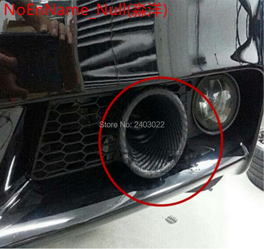 Free shipping top racing Universal Car Turbo Air Intake Pipe Turbine Inlet Pipe Air funnel Carbon Fiber Around Dismeter in Air Intakes from Automobiles Motorcycles