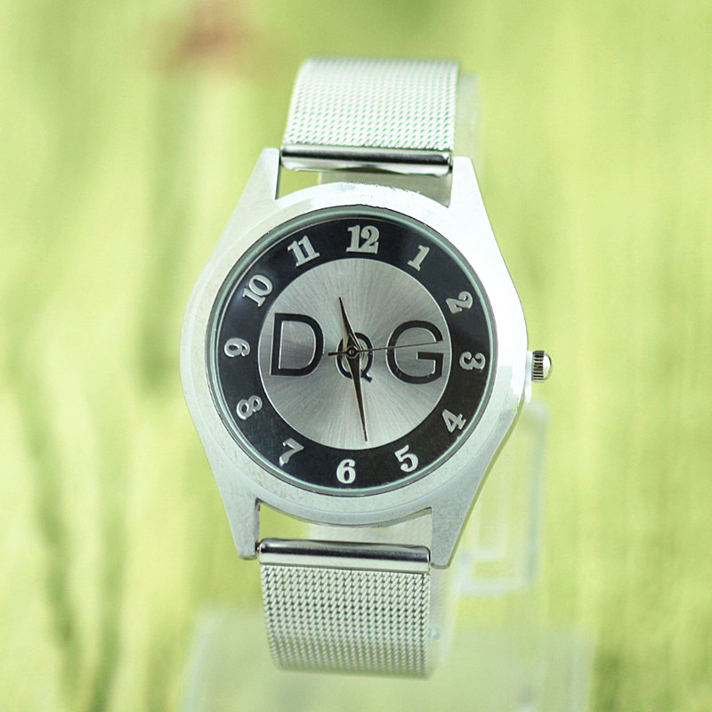 купить reloj mujer New Brand DQG Luxury Metal Mesh Casual Quartz Watch Fashion Simple Ladies Watches Relogio Feminino Clock Hot Sale по цене 282.3 рублей