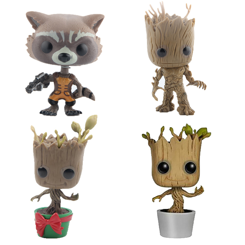 Guardians of the Galaxy Rocket Tree Man Vinyl Action & Toy Figures Children Toys Doll 4 10cm