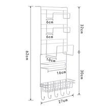 Newly Multilayer Kitchen Storage Hanger Iron Refrigerator Side Shelf Rack Oganizer Tool TE889
