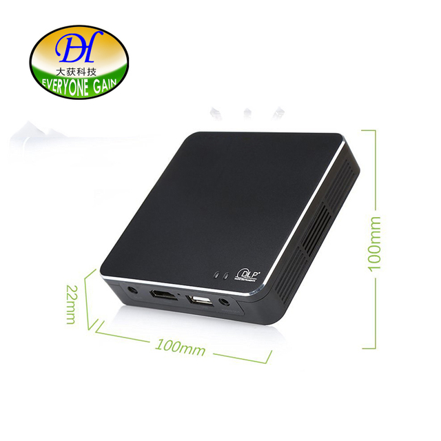 Everyone Gain Projector WIFI DLP Portable Mini Pocket Size Multimedia Video LED Gaming Projectors with 120 Display Black DH-A300