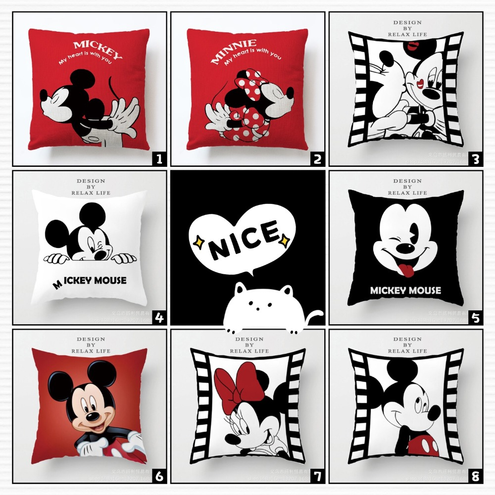 Mickey Mouse Pillow Coussin Minnie Cojines Del Mickey Cuscino Minnie Mickey Oreiller Cute