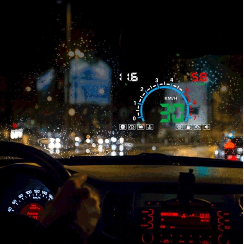 5 8inch Screen HUD Car Head Up Display Engine Fault Fuel Alarm Speedometer E350