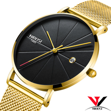 NIBOSI Simple Mens Watches Top Brand Luxury Clock Quartz Watch Men Slim Mesh Steel Waterproof Sport Watch Relogio Masculino Saat цена