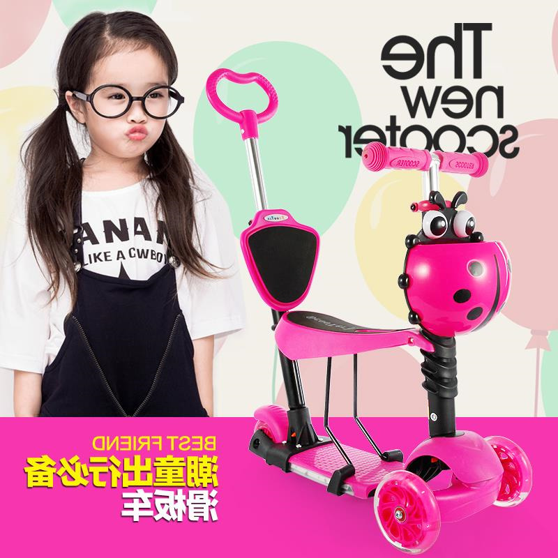 Electric music can hand 1-6 year old children slippery car flash five in one baby ice skates swing car scooter can sit infant shining swing car mute flash belting leather music environmental quality children s toy car