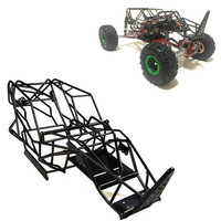 1/10 Scale RC Axial Wraith Truck Full Metal Roll Cage Frame Body Black Chassis whith ESC Mount Plate for 1:10 Axial Wraith 90018