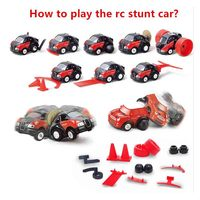 Mini Cute Cartoon Sport Car With Graffiti Color Remote Control Stunt Car Modern Design Automobile Toy
