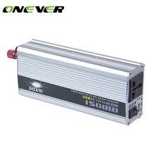 Onever Car Power Inverter Converter DC 12V to AC 220V 1500W Modified Sine Wave Inverter Dual USB Car Charger Power Converter