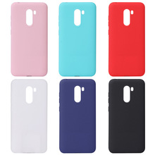 Luxury Candy Colors Phone Case For Xiaomi Pocophone F1 Soft Silicone Cover Cute Black Pink White Red Poco