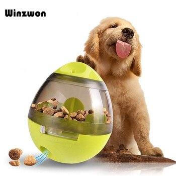 1Pcs Dogs Toys Pets Puppy Toys Smarter Tumbler Leakage Food Feeding Ball Anti-depression Pets IQ Training Magic Ball For Dogs