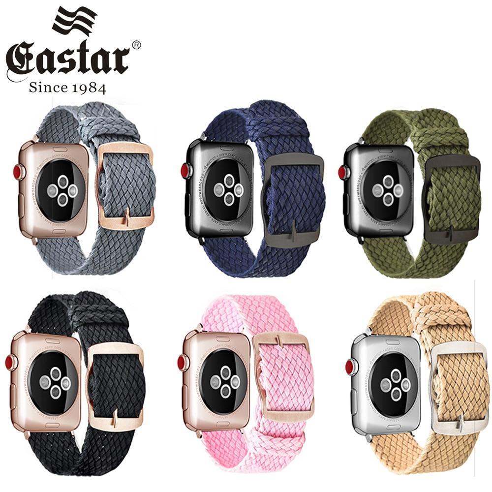 Bracelet de montre en Nylon respirable doux de Polyester pour la série 4 de Bracelet de montre dapple 3/2/1 Bracelet de Sport pour la bande 40mm 44mm diwatch 4