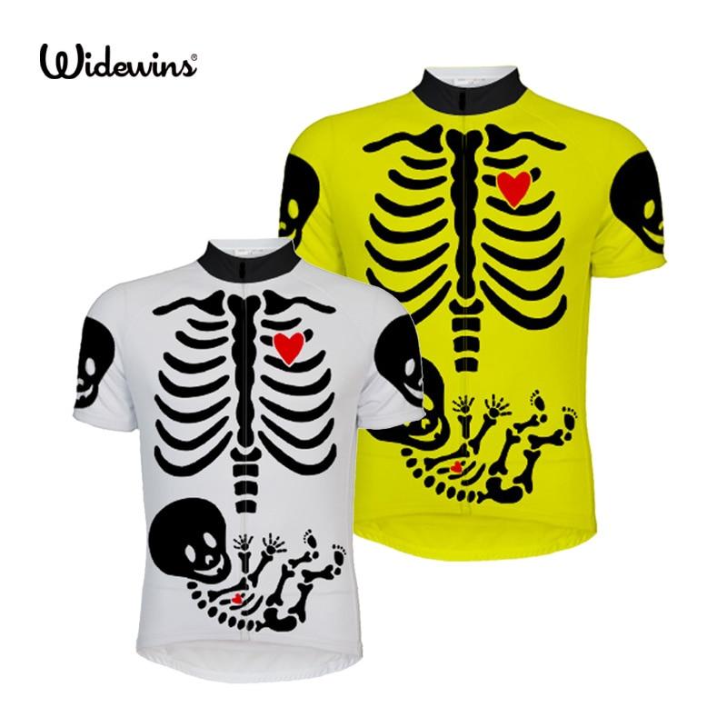 Cycling Jersey Shirt Short-Sleeve Bike-Wear MTB Skull Breathable 2662 Heartbeat
