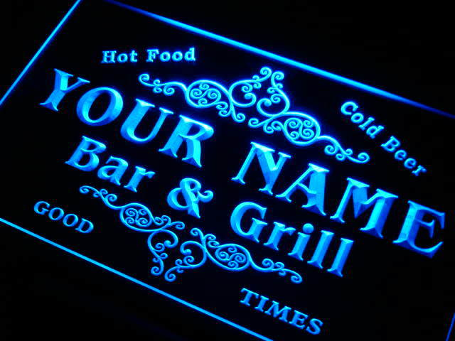 Personalized Neon Signs Delectable U Tm Name Personalized Custom Family Bar Grill Beer Home Gift Neon