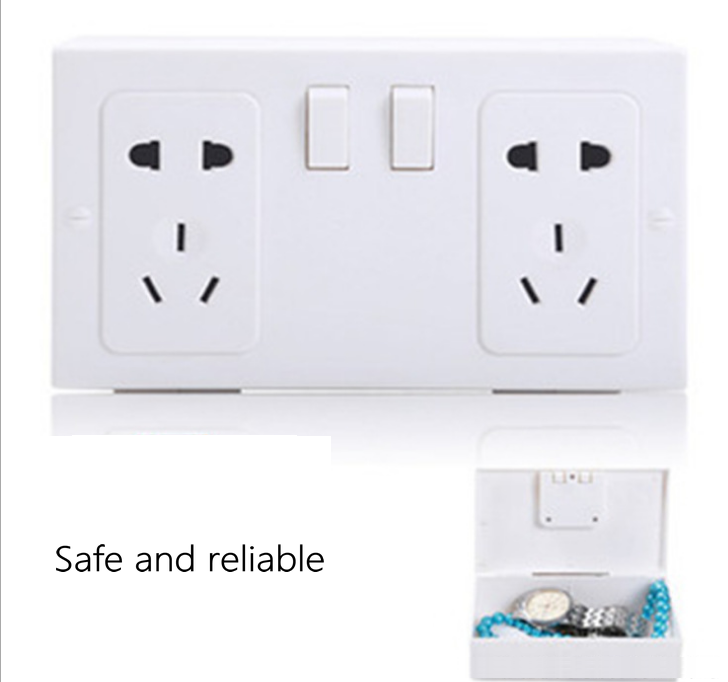Mini Hidden Security Anti-theft Tibetan Wall Socket Security Tibetan Jewelry Watch Cash Safe Key Storage Safe Safety Socket