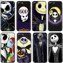 For iPhone X XR XS Max 6 6s 7 8 Plus 5 5s SE Jack Skellington Funny Halloween Expression(China)