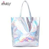 2017 New Women Handbag Laser Hologram Leather Shoulder Bag Lady Single Shopping Bags Large Capacity Casual
