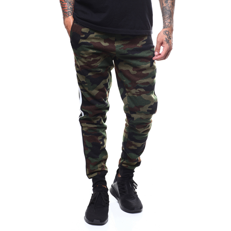 MarKyi Brand Spring 2019 New Fashion Slim Straight Men Casual Pants Cotton Man Trousers Camouflage