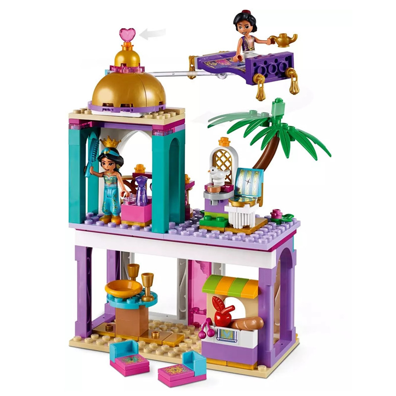 2019 Girl Friends Fairy Princess Aladdin Palace Adventures Figures Building Blocks Bricks Action For Children Model Toys Gift