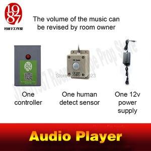 Image 5 - 오디오 사운드 플레이어 소품 다카시즘 게임 real llive room escape 인간의 음악을 감지할 때 소리 재생 분위기를 만드는 오디오 음악