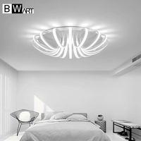 BMART White High Power LED Ceiling Chandelier For Living Room Bedroom Home Modern Led Chandelier Lamp