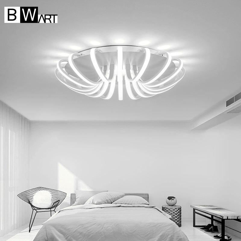 Bwart белые Мощность светодиодный потолочный Люстра для Гостиная Спальня дома современный светодиодный светильник люстра лампа