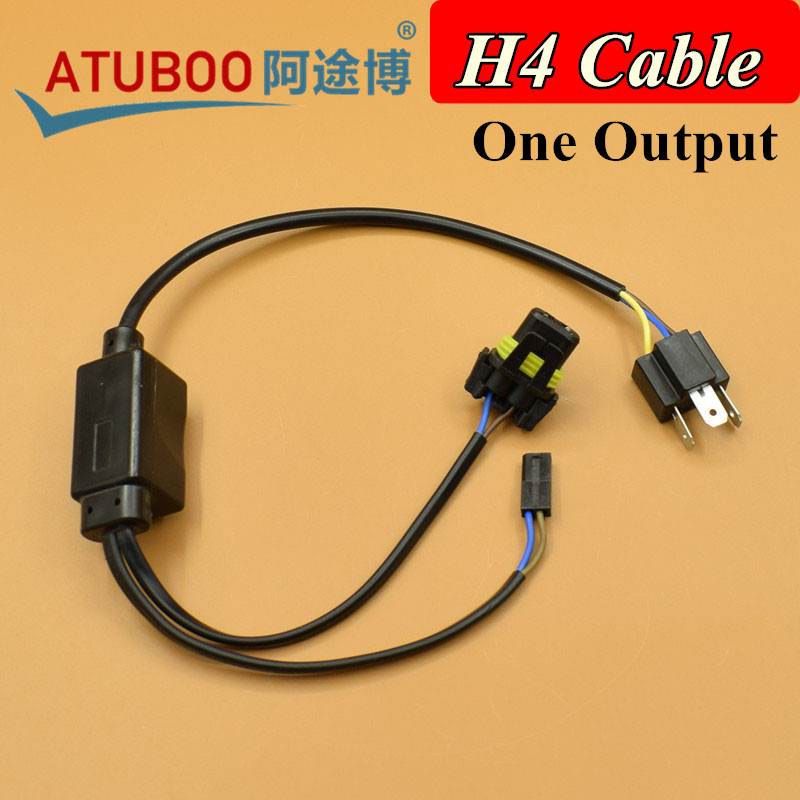 2pcs/Lot Easy H4 Relay wiring harness for H4 9003 Hi/Lo Bi-Xenon HID Bulbs Wire Auto Motor Headlight Cable акустические кабели atlas hyper bi wire 2 to 4 5 0m transpose z plug gold
