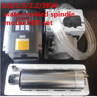 1 5kw ER16 Spindle Motor Water Cooled Spindle 1500W VFD Variable Drive 80mm Clamp Cooling Water