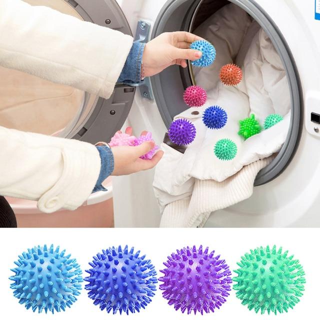 PVC Bolas Secador de Ferramentas de Lavagem de Secagem da Lavanderia Bola Amaciante Reutilizável Limpa Seca Produtos Acessórios de Lavanderia Esfera de Lavagem