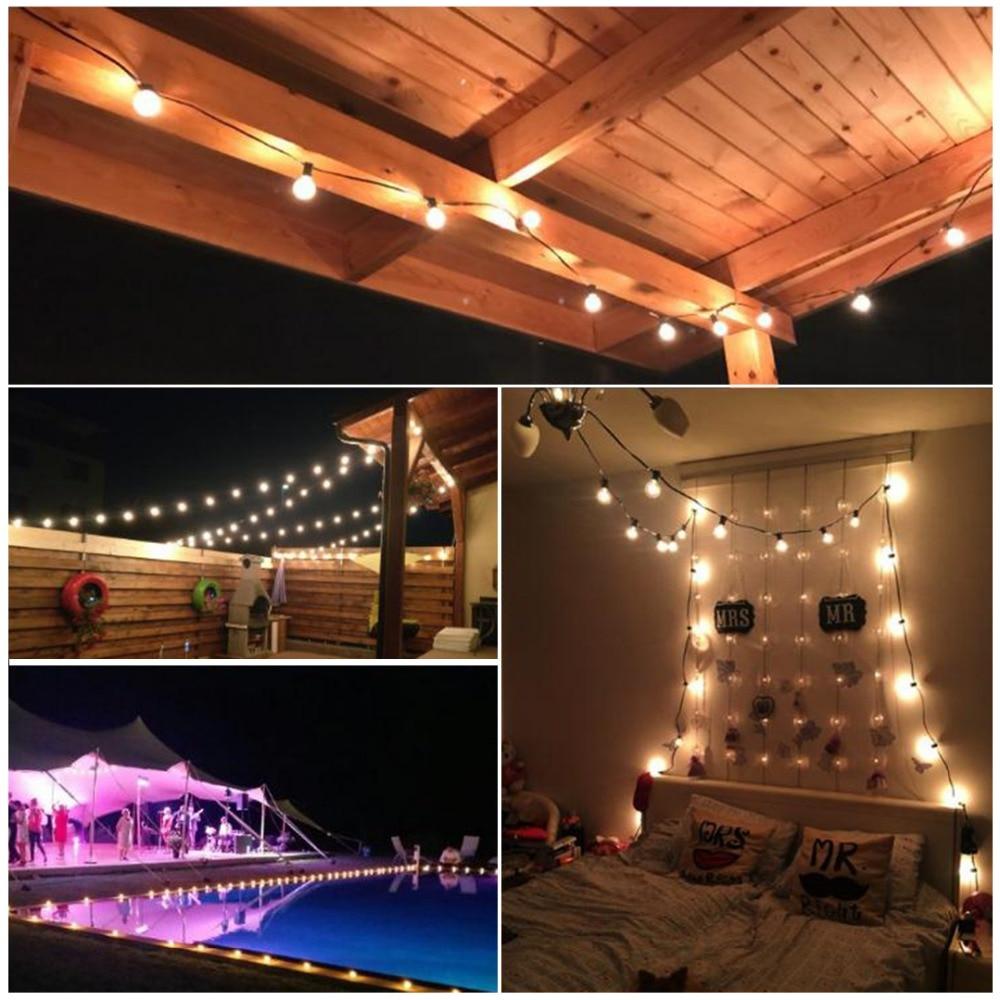 8M νεράιδα LED φως φερμουάρ LED G50 - Φωτισμός διακοπών - Φωτογραφία 6