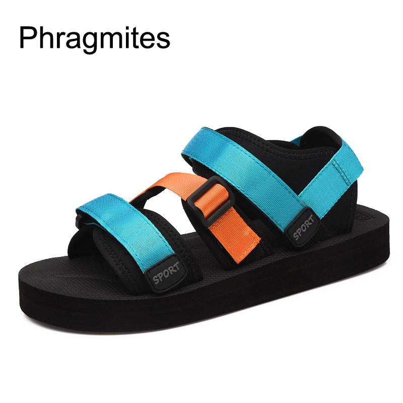 Phragmites Shoes Sandals Comfortable Fashion Summer Beach Colour Couple Para All-Match-Candy title=