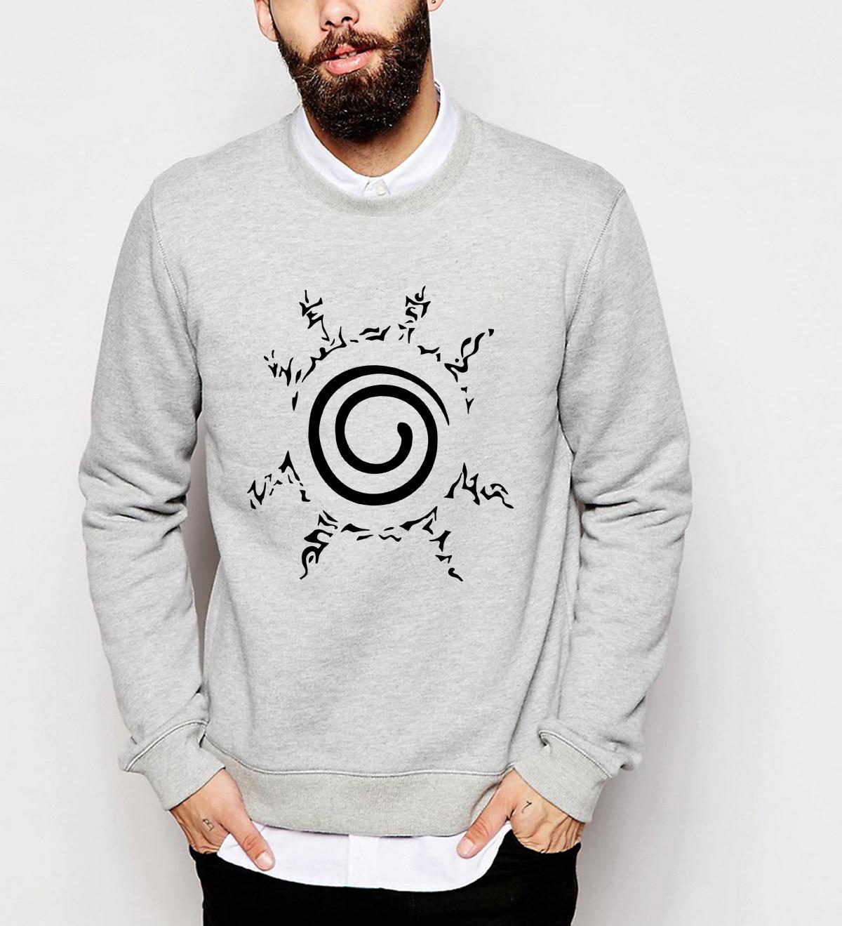 newest long sleeve printed men sweatshirts 2019 fall winter fashion Uzumaki Naruto hoodies fleece top brand clothing tracksuit