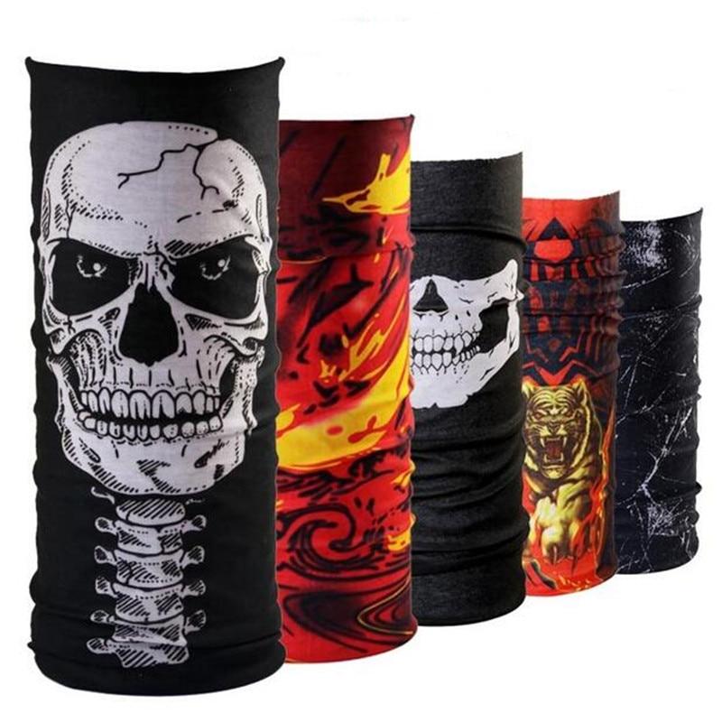 Flames punk rock skull motorcycle tube scarf headgear for Sa fishing face shield review