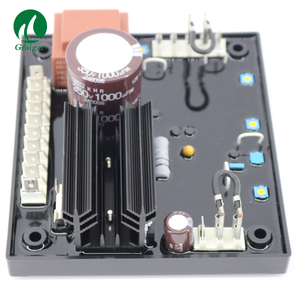 R438 AVR Power AC Brushless Generator  Soft Start Voltage Ramping With under frequency LED indicatorR438 AVR Power AC Brushless Generator  Soft Start Voltage Ramping With under frequency LED indicator
