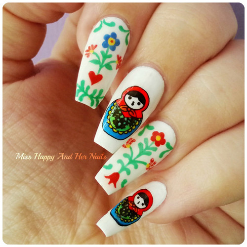 Born Pretty Nail Art Stamp Template Image Plate Cute Russian Doll