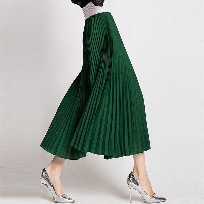 Gama Alta Cintura Ancho Moda De Plisado Black grey Otoño Pantalones Original green Pantalón Mujeres 5wq4zxE