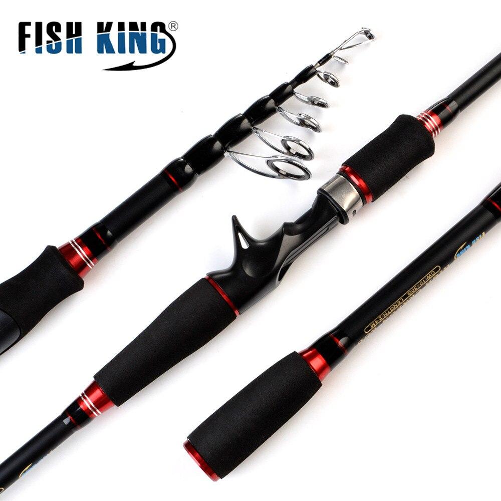 Peixe rei 24 t carbono fiação haste de fundição c.w 10-30g ultraleve vara de pesca telescópica isca haste 1.8 m, 2.1 m, 2.4 m, 2.7 m, 3.0 m, m